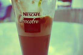 Nescafe Chocofreddo glass