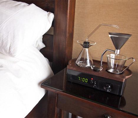 Кафе машина будилник